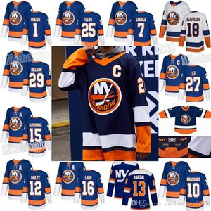 Brock Nelson Lehner New York Islanders 2021 Revers rétro Eberle Mathew Barzal Robin Anders Lee Casey Cizikas Josh Bailey Matt Martin Jersey