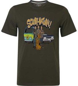 Scooby Natural Scooby Doo Goat Gang Seam DEAN Castiel Supernatural дизайнеры футболки мужские графические капюшоны