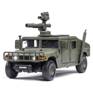 1:32 U.S Hummer M1046 Military Car Model Russia Tiger-M Explosion Proof Armored Sound Light Alloy Car Diecast Toy Vehicles Kids Z1124