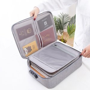 Big Capacity Passport Documents Package Travel Bag Pouch ID Credit Card Wallet Cash Holder Organizer Case Box with Code Q0112