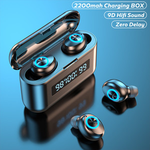 TWS Wireless Headphones With Microphone 2200mAh Charging Box Sports Waterproof Bluetooth Wireless Earphones for All Smart Phone