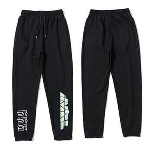 BLACK Orange Mens Pants Fashion Sweatpants Joggers Men Women High Quality Sport Jogging Pants Beam Foot Trousers Size S-XL