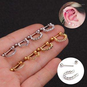 Новые серьги из нержавеющей стали с микроиннадными серьгами с Zircon Мягкие сережки для мужчин для пирсинга ушей организма человека1