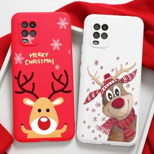 Christmas Cartoon Elk Case For Xiaomi Redmi 9s 8T 8 7 5 9A Mi 10T Note 10 9 SE A3 Lite 9T Poco F2 Pro X3 NFC Coque Gifts