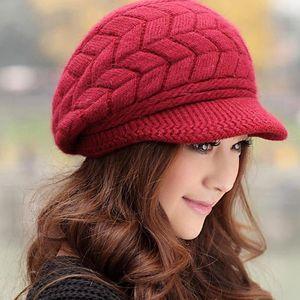 2020 Knitted Hat Women Winter Hats For Women Ladies Beanie Girls Skullies Caps Bonnet Femme SnapBack Warm Wool Hat Sombrero