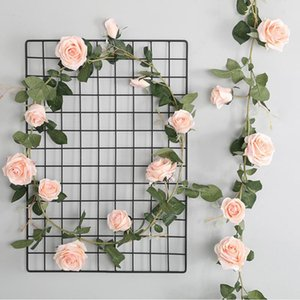 European style 1.8m Artifical Flowers Australia Rose Vine Rattan Silk Fake Flower for Wedding Decoration Party Home Garden Decor