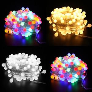 LED 비드 램프 문자열 투명 라인 문자열 조명 PVC 구리 와이어 컬러 조명 체인 배터리 장식 룸 크리스마스 4 5rb2 n2