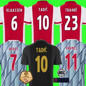 20 21 AJAX am Amsterdam FC Soccer Jersey 2020 2021 KUDUS ANTONY BLIND PROMES TADIC NERES CRUYFF رجال أطفال طقم قميص كرة القدم الزي الثالث 50