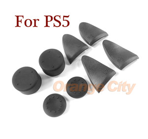 8 in 1 Set L2 R2 Trigger Extenders Buttons Silicone Analog Thumb Stick Grips Cover For PlayStation 5 PS5 Controller