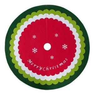 Party Saciosts Carpet зимний праздник круглый орнамент рождественские елки юбка атмосфера 120см коврик для пола базовая крышка низого украшения