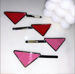 새로운 뜨거운 금속 삼각형 헤어 클립 스탬프 여성 소녀 삼각형 편지 헤어 클립 패션 헤어 액세서리 고품질 선물