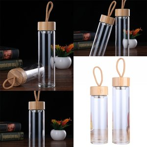 Portable Waters Cup Single Layer Heat Insulation Glasses Cups Bamboo Cover With Ropes Water Bottles Hot Selling 16bd2 L1