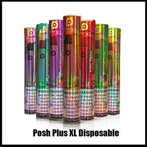 NEW POSH PLUS XL Disposable Device Pod Kit 6ml Cartridges 1500Puffs Vape Empty Pen VS Puff Bang XXL Plus