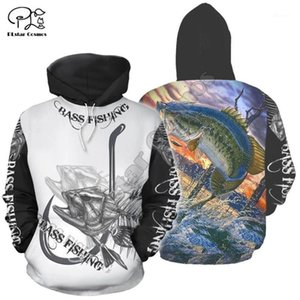 PLSTAR COSMOS NUEVO animal Bass Fishing Pesca Newfashion Fisher Traje Funny 3DPrint Unisex Cremallera / Sudaderas / Sudaderas / Chaqueta S91