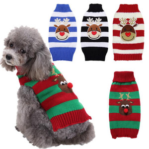Christmas Dog Clothes Winter Warm Pet Sweater Dog Jacket Coat Puppy Clothing Hoodies For Small Medium Dogs Puppy Yorkshire Outfit XS-2XL