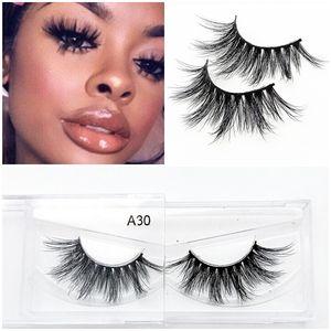 NEW 3D Mink Eyelashes Handmade False Eyelashes Natural Curly Mink Lashes Cross Mink Eyelash Extension Makeup Tool Hot Style Fake Eyelash