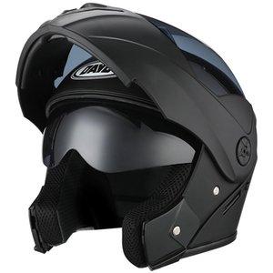 Flip Up Full Face Motorcycle Helmet Flip Up Motorbike Casco con doble sol visera para mujer hombre Motocross Casco