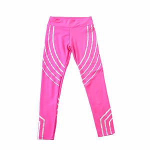 Kylie 핑크 패션 여성 슬림 높은 허리 탄성 피트니스 레깅스 통기성 여자 바지 레깅스 Q1119