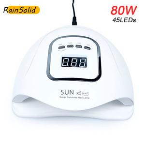 REINSOLAR 80W SUNX5 MAX UV-Lampe LED-Nageltrockner 45 stücke LEDs Sun UV-LED-Nagellampe Maniküre für alle Gel-Polisel Nail Art-Tools 201216