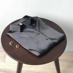 Autumn Women Satin Black Blouse Shirt 2020 Vintage Long Sleeves Femme V Neck Street Shirts Elegant Fashion Blouse Shirts