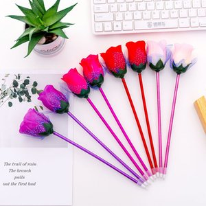Creative Valentine's Day Flowers Roses Ballpoint Pen Colorful Personalized Office Party School Pen Gift Supplies Z447