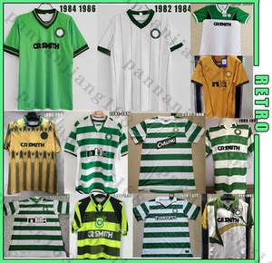 셀틱 82 84 86 03 04 레트로 축구 유니폼 # 7 Larsson Nakamura Burley Keane Classic 99 00 빈티지 축구 셔츠