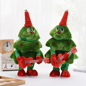 Plush electric toy Christmas tree can sing and dance Christmas gift ornament christmas toy free shipping