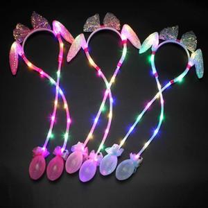 Tiktok hot Festive decorations glow rabbit ears Street fashion accessories Move as soon as you pinch it Cartoon headdress