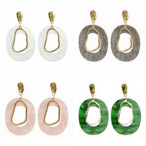 Geometry Shape Earrings Alloy Lady Irregular Simplicity Earring Green White Ear Pendants Fashion Women Accessories 2 3sff P2