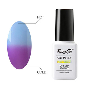 FairyGlo 8ml Temperature Color Change Gel Polish Thermal Gel Nail Polish UV Lacquer Soak Off Nail Art Hybrid Varnishes
