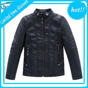 Gcwhff de alta qualidade meninos herf inverno meninas pu couro jaquetas crianças 4-16Y vestuário crianças casaco quente top