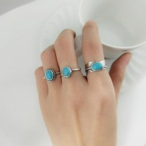 Real Pure 925 Sterling Silver Rings For Women With Turquoise Stone Vintage Opening Type Leaf Oval Shape Turkish JewelryLJ201120