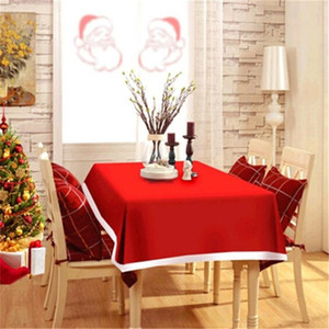 New Year Home Kitchen Dining Table Decorations Christmas Tablecloth Rectangular Party Table Covers Christmas Ornaments