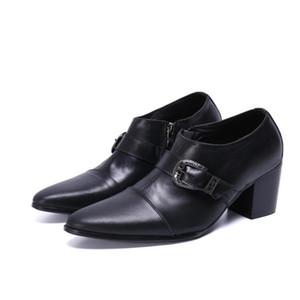 Роскошные натуральные кожаные мужчины высокие каблуки верховые ботинки зима заостренный панк Мартин ботильоны на лодыжки мода мужчины свадьба Engeen