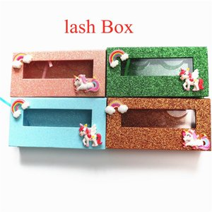 Wholesale Lash Boxes Packaging Wholesale Fahion New Empty Eyelash Packaging Box Rectangle Lashes Case Eyelashes Package