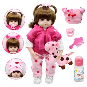 Silicone Reborn Dolls 47cm Alive Toddler Realistic Lifelike Real Girl Baby Doll Lol Birthday Christmas Play Toys for Children Q1124