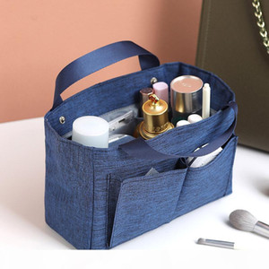 Multifunctional New 3D Make up Organizer Insert Bag For Handbag,Travel Toiletry Inner Purse Cosmetic Bag Base Shaper