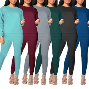 Women Tracksuit Two Pieces Set Designer Hooded Long Sleeve Trousers Outfits Ladies New Fashion Sportswear Street Clothes klw5701