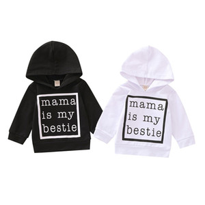 Kids Boys Hoodies Letter Printed Long Sleeve Sweater Infant Kids Tops Toddle Boys Casual Outfits Vêtements bébé Hooded Clothes 061128