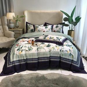 TUTUBIRD 1000 coton Egypte filles linge de lit fixe d'impression numérique Literie Princesse Peinture luxe décor Egyptain Housse de couette 4pc