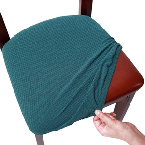 Washable Home Decor Protector With Ties Button Office Cushion Slipcovers Easy Install Removable Stretch Solid Chair Seat Cover