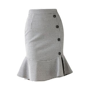 Business Casual Skirt Women's Clothes Sexy Elegant Package Hip Skirt Fashion Ruffle Ladies Skirt Autumn Winter Skirts