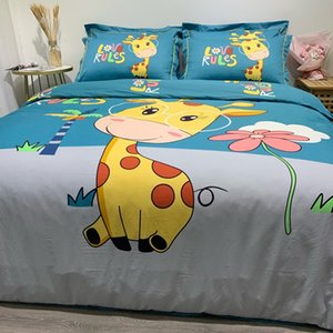 100% Cotton 4pcs Bedding Sets High Quality Large Version Bedding Set Zipper Style Duvet Cover Rounded Corners Bed Sheet Pillowcases