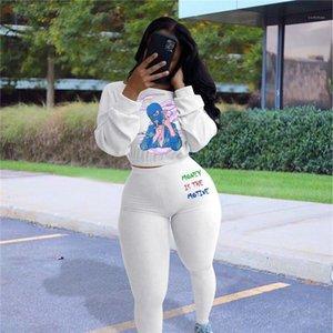 Stampa Designer Tracksuits Fashion Casual Set Donne Abbigliamento Autunno Winter Winter Womens Due pezzi Pantaloni a maniche lunghe