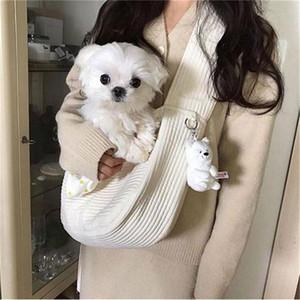 Handgemachte Haustier Hundeträger (kein Anhänger) Outdoor Reise Handtasche Leinwand Einzelner Umhängetasche Sling Komfort Reise Tote Umhängetasche Atmungsaktiv