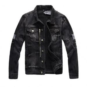 2021 New denim jacket high fashion bomber Denim Slim windbreaker jacket High quality Mens jean clothing
