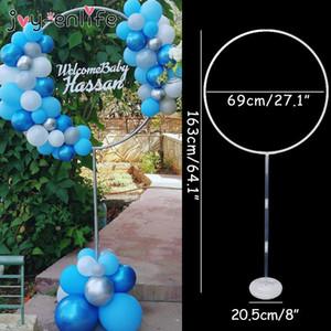 1set Círculo redondo Soporte de globo Arco para decoración de boda Baby Shower Fiesta de cumpleaños Fondo de cumpleaños Fondo decorativos Suministros Y200903