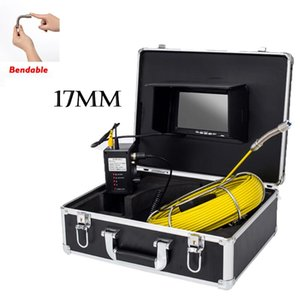17mm Pipe Borescope Endoscope Inspection Monitor Waterproof 6pcs LED Light 4500mAh Battery Drain Sewer Pipeline Video Camera