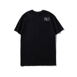 2020 T-shirt Signature Paris Europe Broderie Print Lettre Mode Mes T-shirts Casual Hommes Femmes Vêtements Coton Tee Tee Tops