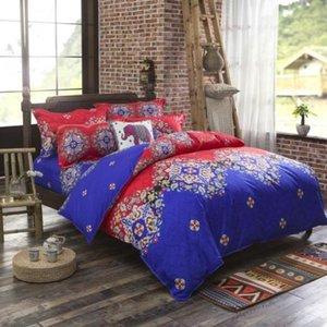 En Çok Tavsiye Yatak Yorgan Set Kapak-4 Parça Suit (1 Nevresim + 1 Çarşaf + 2 Yastık) Patchwork Bedspread